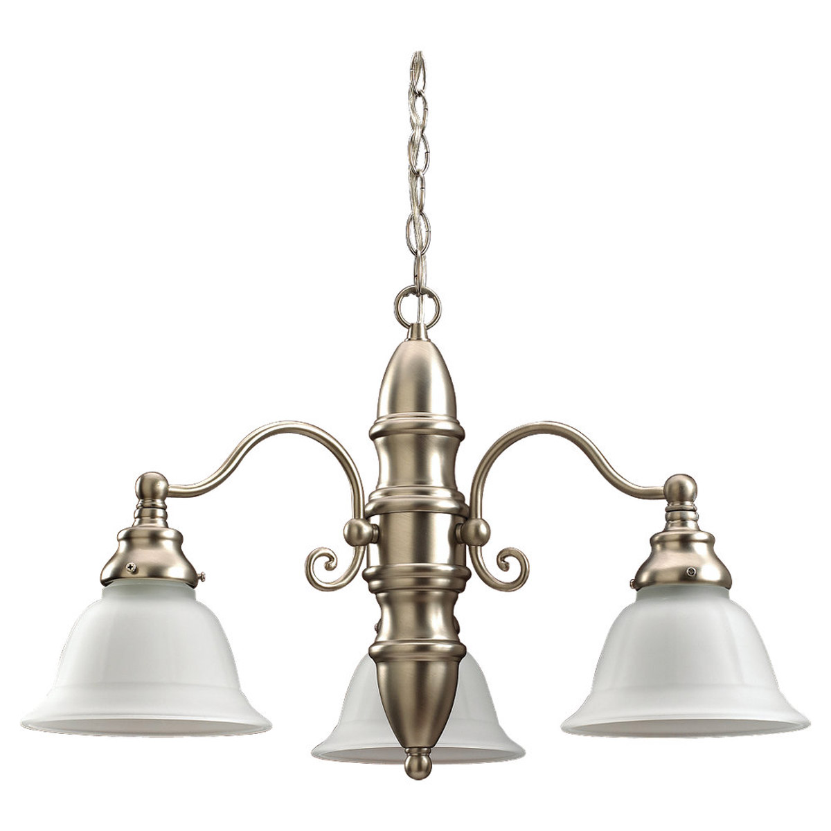 Sea Gull Lighting Canterbury 3 Light Chandelier in Brushed Nickel 39050BLE-962
