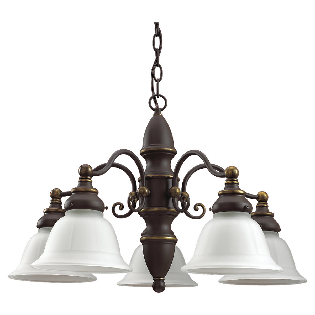 Sea Gull Lighting Canterbury 5 Light Chandelier in Antique Bronze 39051BLE-71