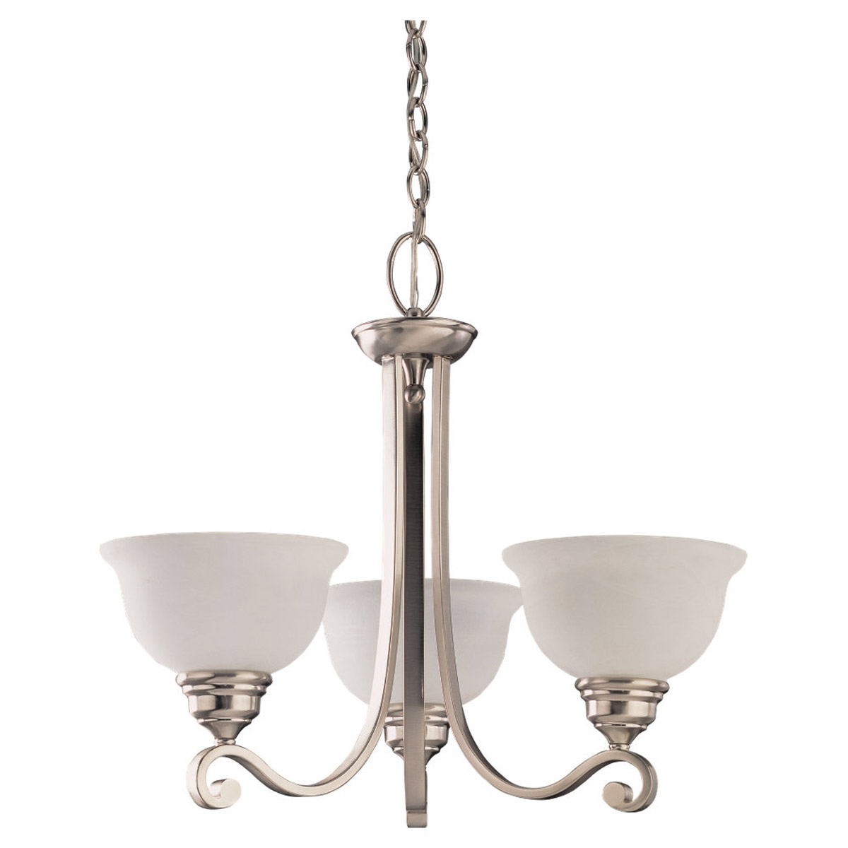 Sea Gull Lighting Serenity 3 Light Chandelier in Brushed Nickel 39058BLE-962