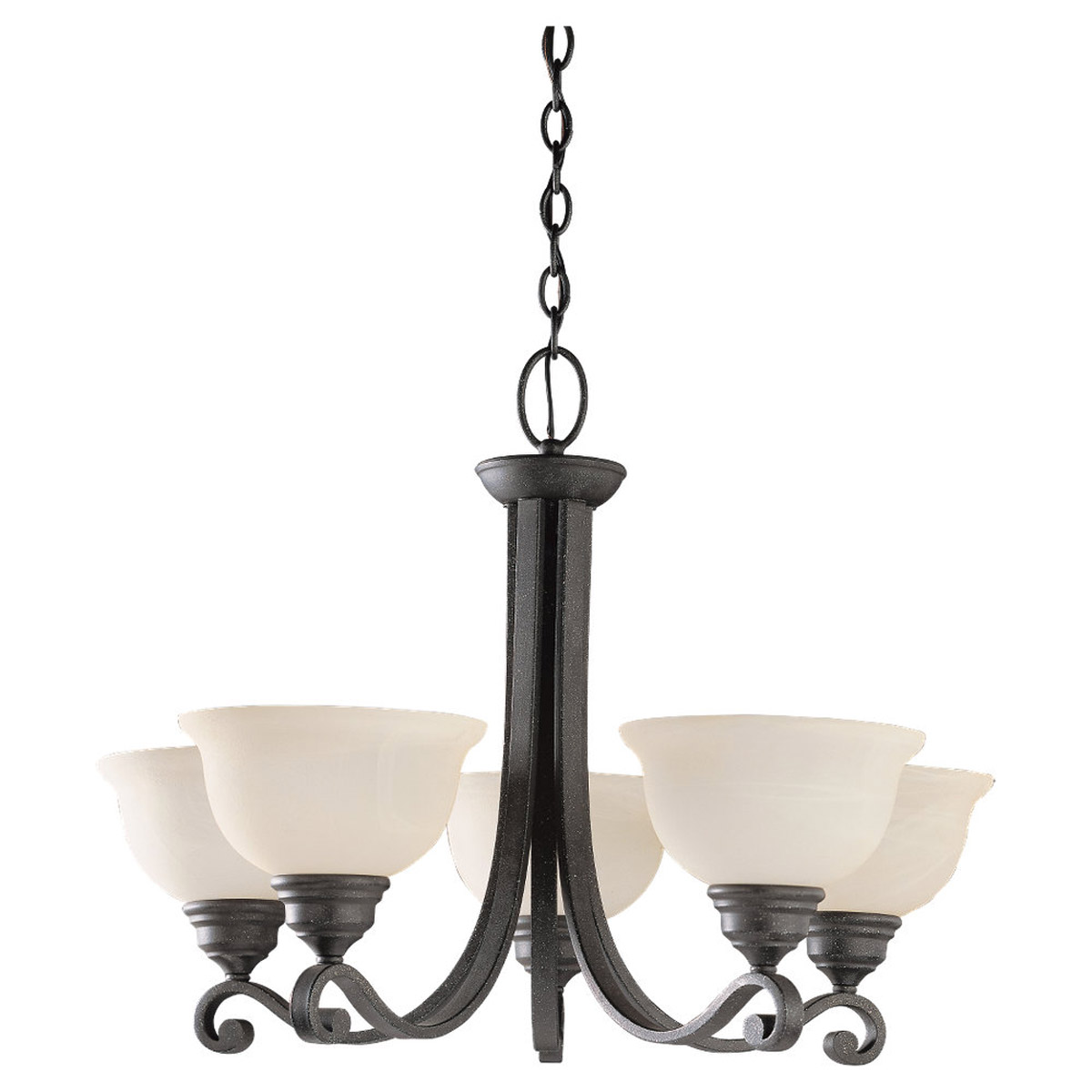 Sea Gull Lighting Serenity 5 Light Chandelier in Weathered Iron 39059BLE-07