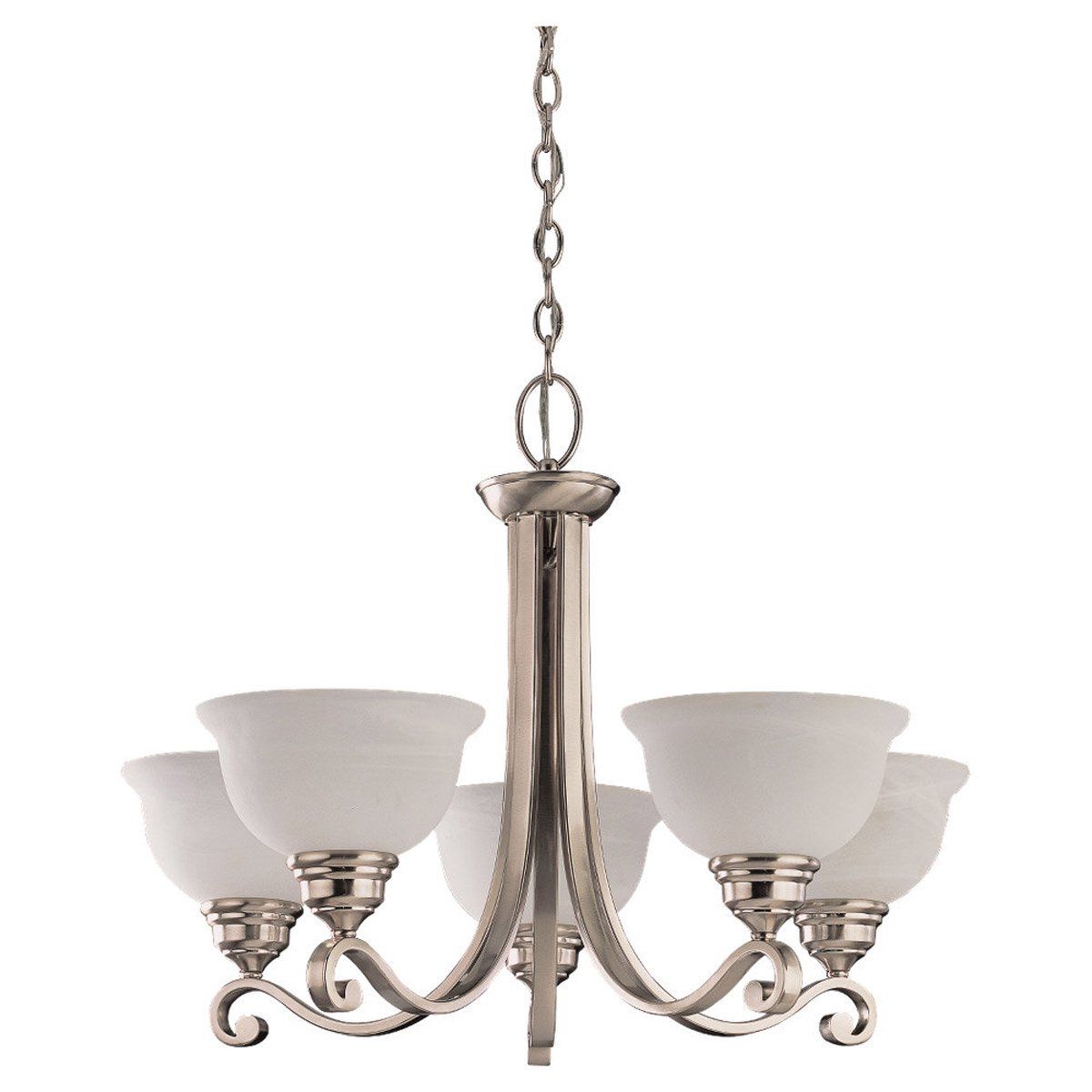 Sea Gull Lighting Serenity 5 Light Chandelier in Brushed Nickel 39059BLE-962
