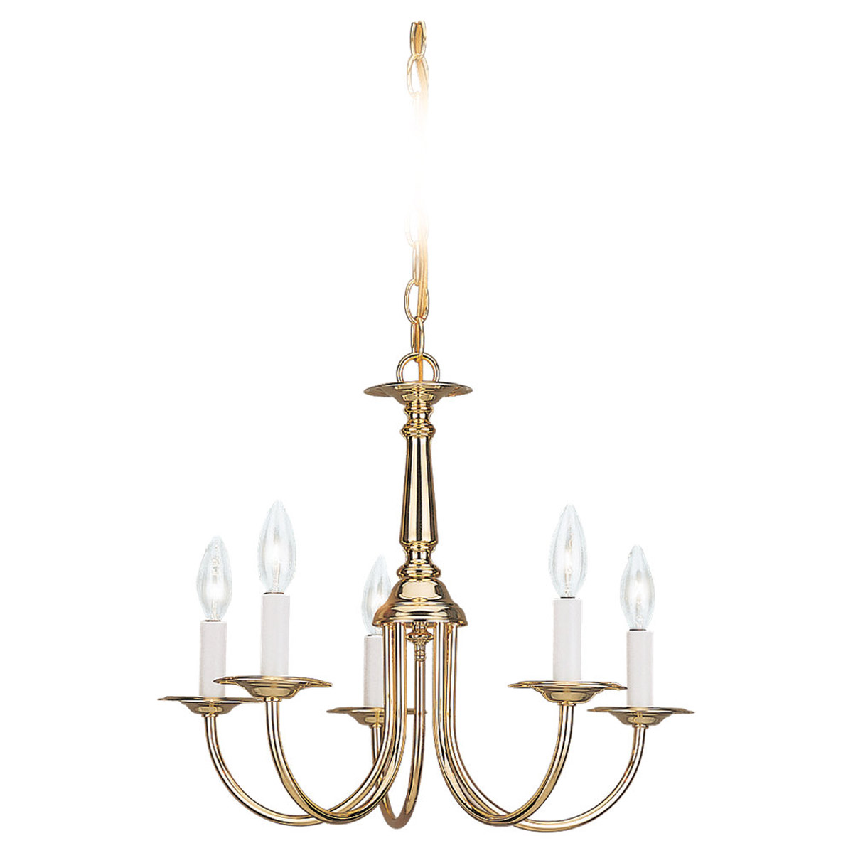 Sea Gull Lighting Traditional Chandelier in Polished Brass 3916-02