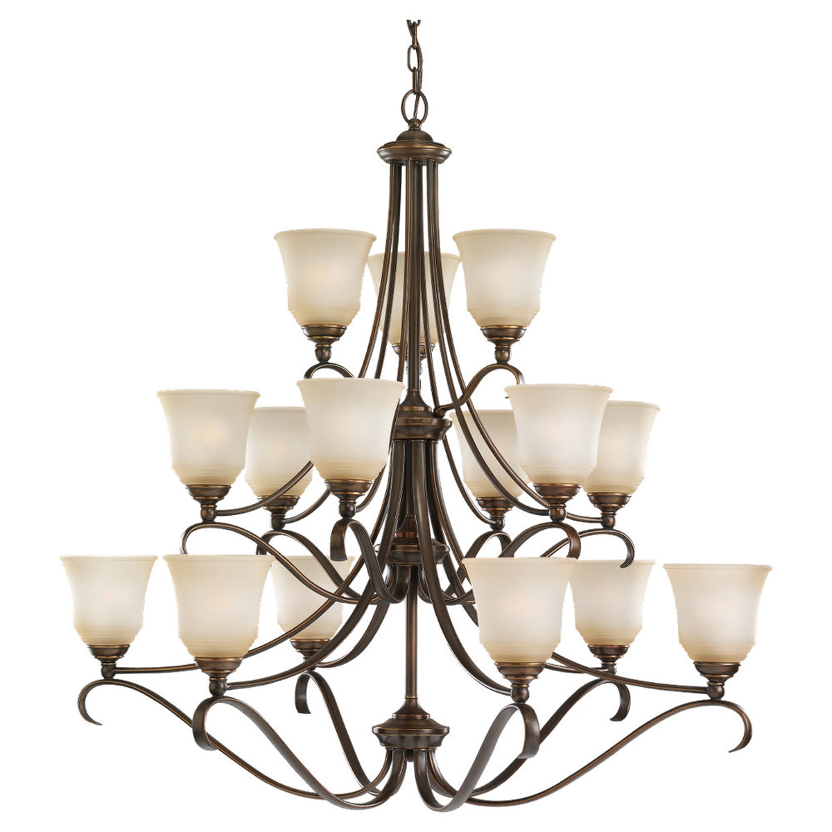 Sea Gull Lighting Parkview 15 Light Chandelier in Russet Bronze 39382BLE-829