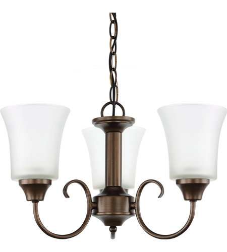 Sea Gull Holman 3 Light Chandelier in Bell Metal Bronze 39806BLE-827