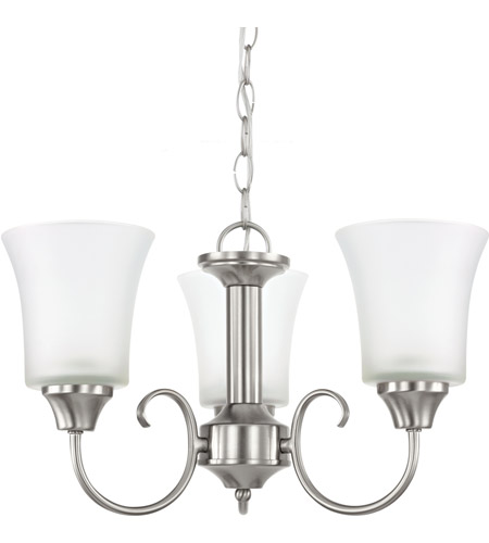 Sea Gull Holman 3 Light Chandelier in Brushed Nickel 39806BLE-962 photo