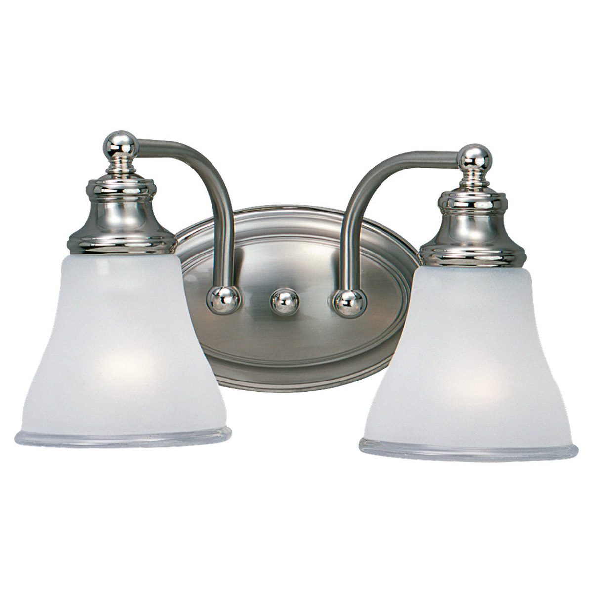 Sea Gull Lighting Alexandria 2 Light Bath Vanity in Two Tone Nickel 40010-773