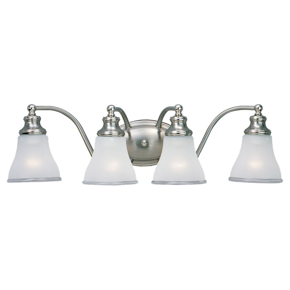 Sea Gull Lighting Alexandria 4 Light Bath Vanity in Two Tone Nickel 40012-773