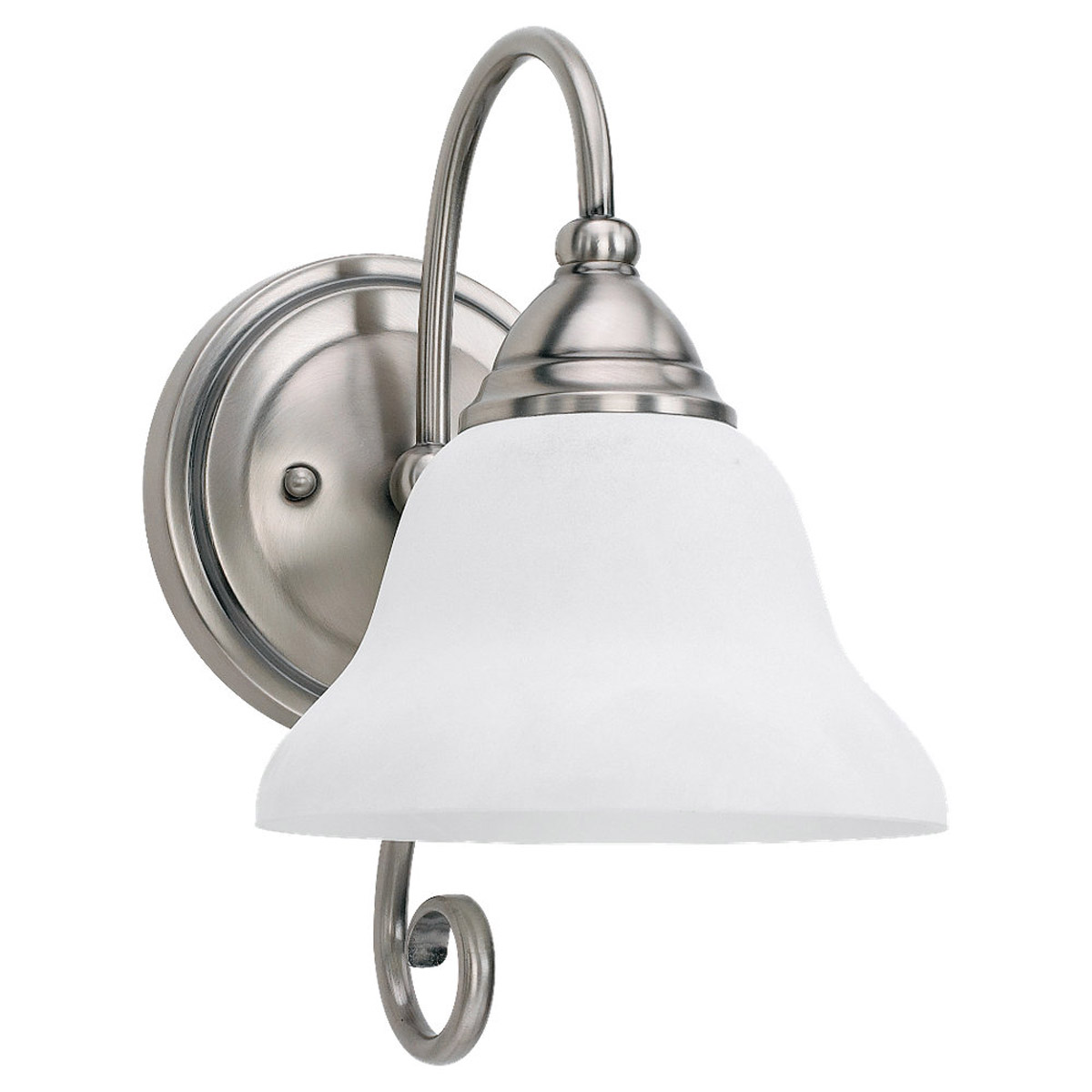 Sea Gull Lighting Montclaire 1 Light Bath Vanity in Antique Brushed Nickel 41105-965