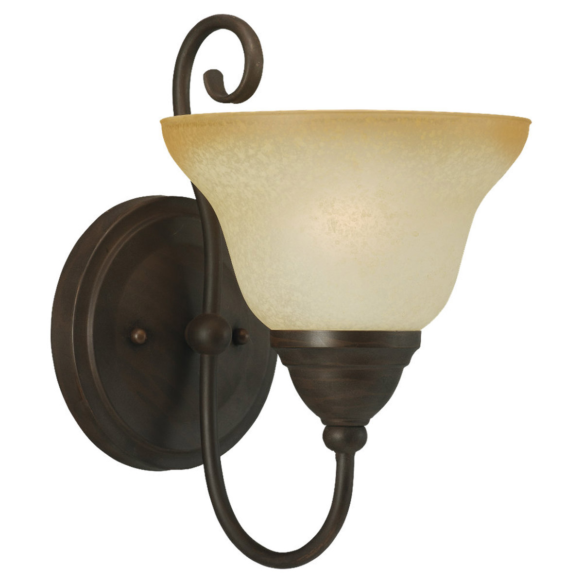 Sea Gull Lighting Montclaire 1 Light Bath Vanity in Olde Iron 41105BLE-72 photo