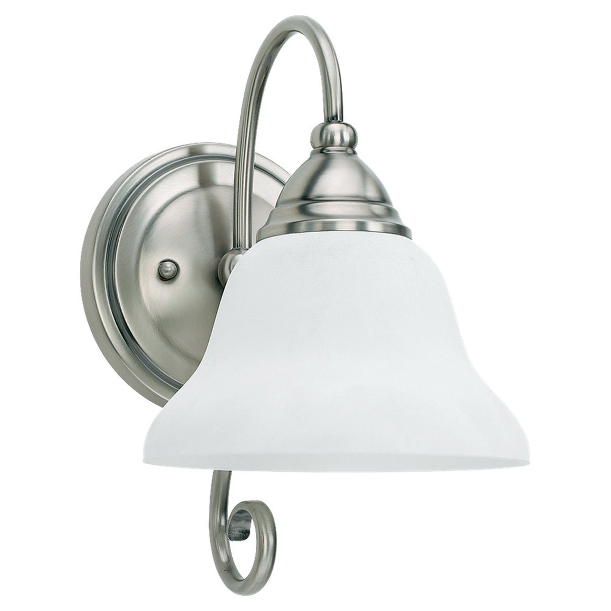 Sea Gull Lighting Montclaire 1 Light Bath Vanity in Antique Brushed Nickel 41105BLE-965
