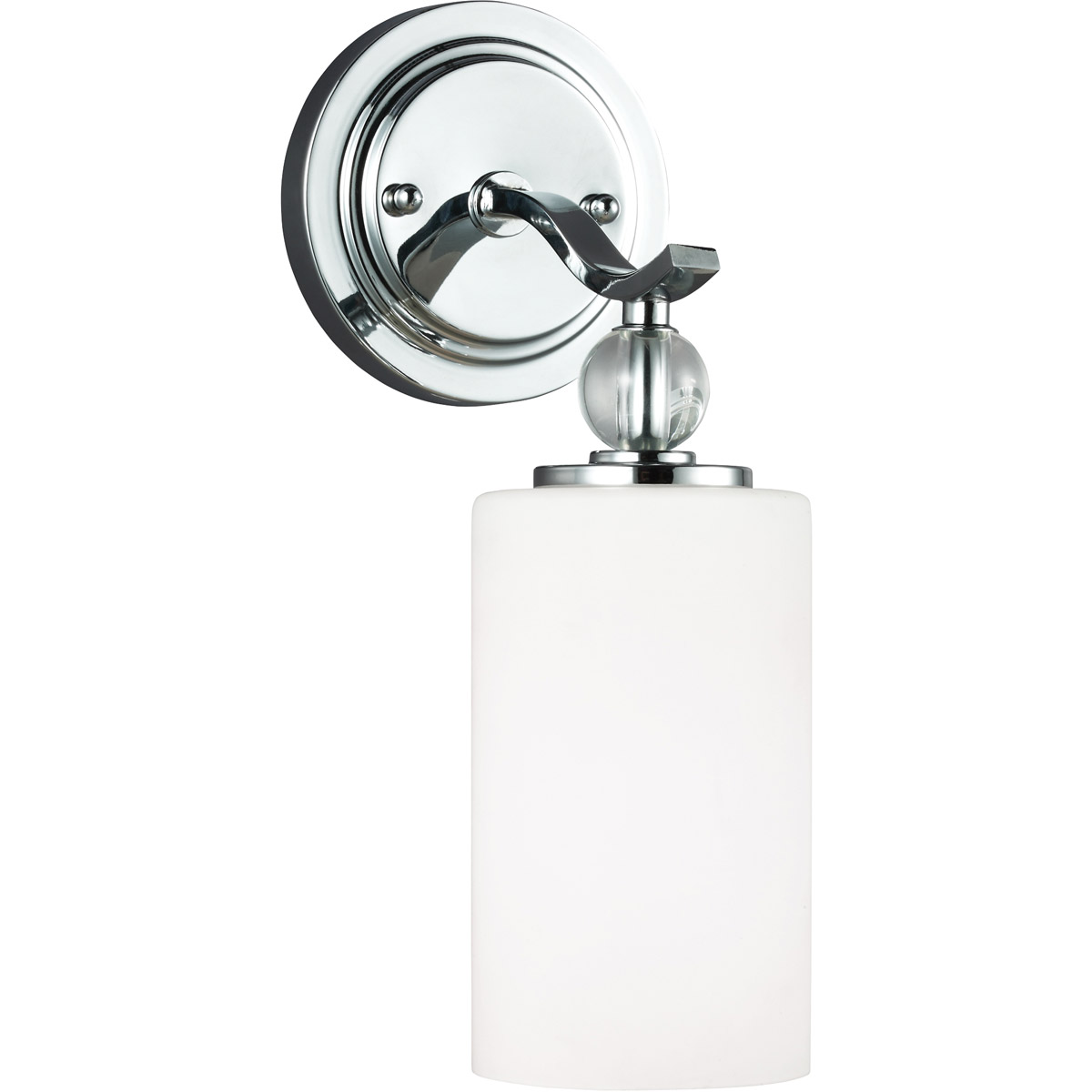 Sea Gull 4113401BLE-05 Englehorn 1 Light 5 inch Chrome / Optic Crystal Bath Sconce Wall Light in Fluorescent photo