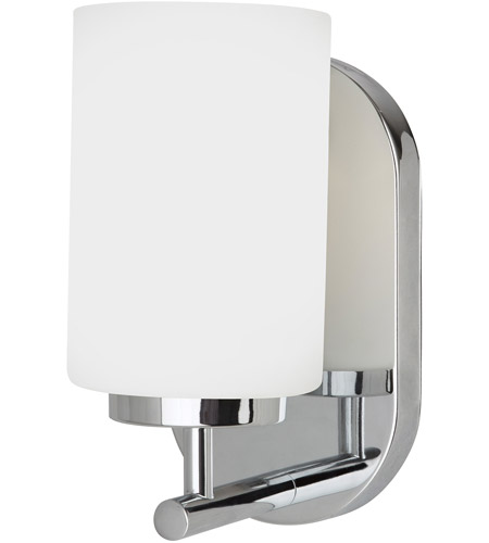 Sea Gull Lighting Oslo 1 Light Bath Vanity in Chrome 41160-05
