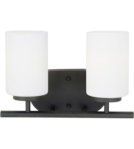 Sea Gull Lighting Oslo 2 Light Bath Vanity in Blacksmith 41161-839
