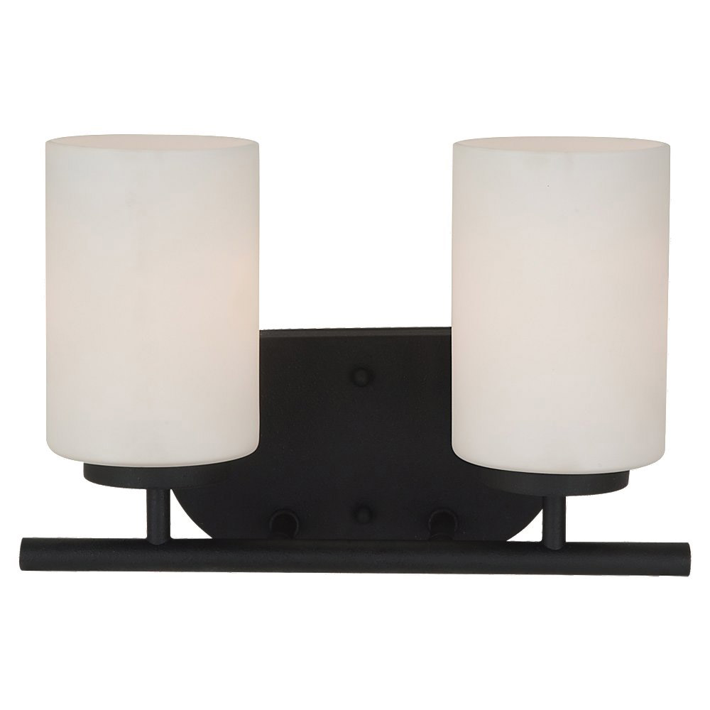 Sea Gull Lighting Oslo 2 Light Bath Vanity in Blacksmith 41161BLE-839