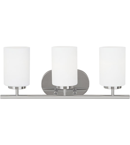 Sea Gull 41162-05 Oslo 3 Light 20 inch Chrome Bath Vanity Wall Light in Standard photo