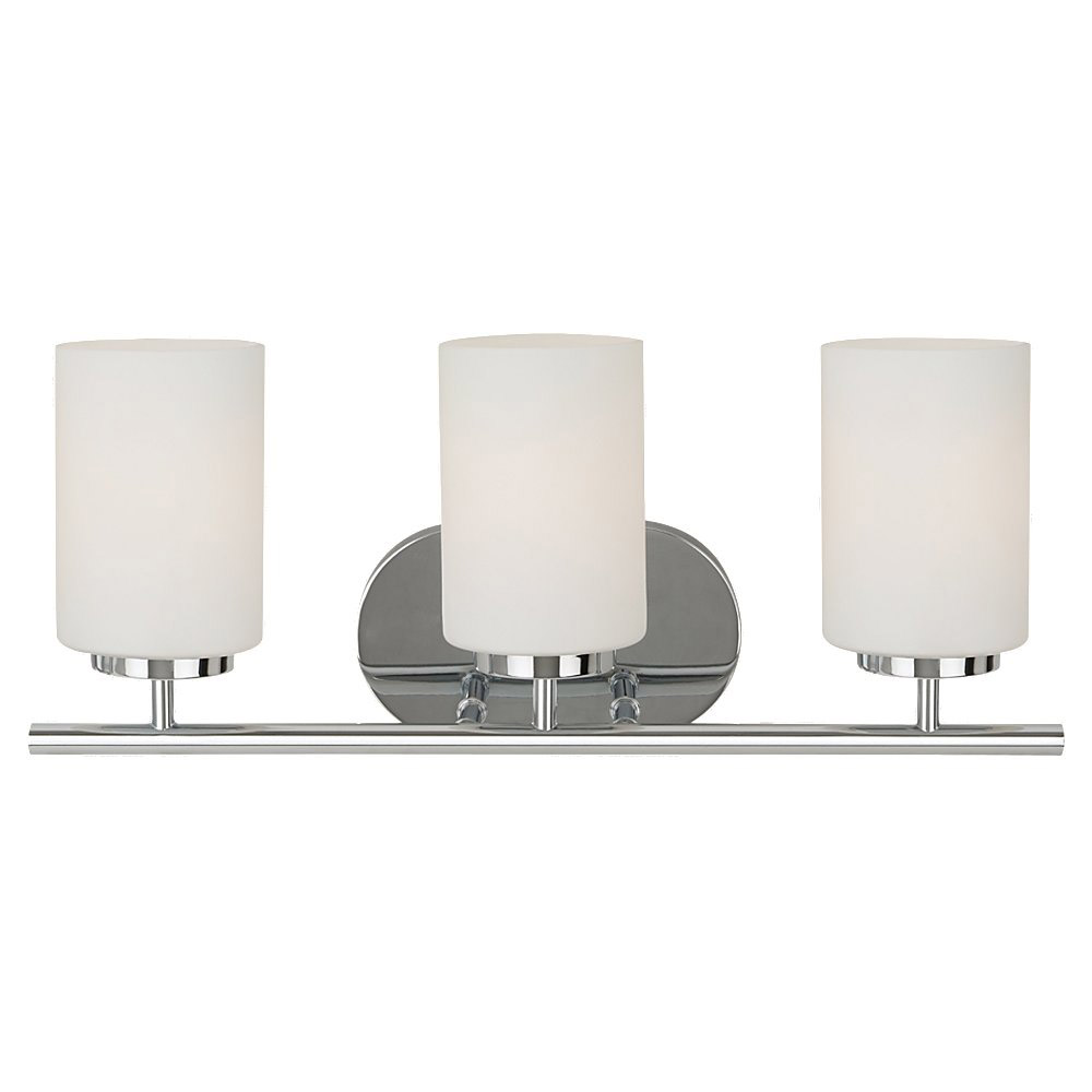 Sea Gull 41162BLE-05 Oslo 3 Light 20 inch Chrome Bath Vanity Wall Light in Fluorescent photo