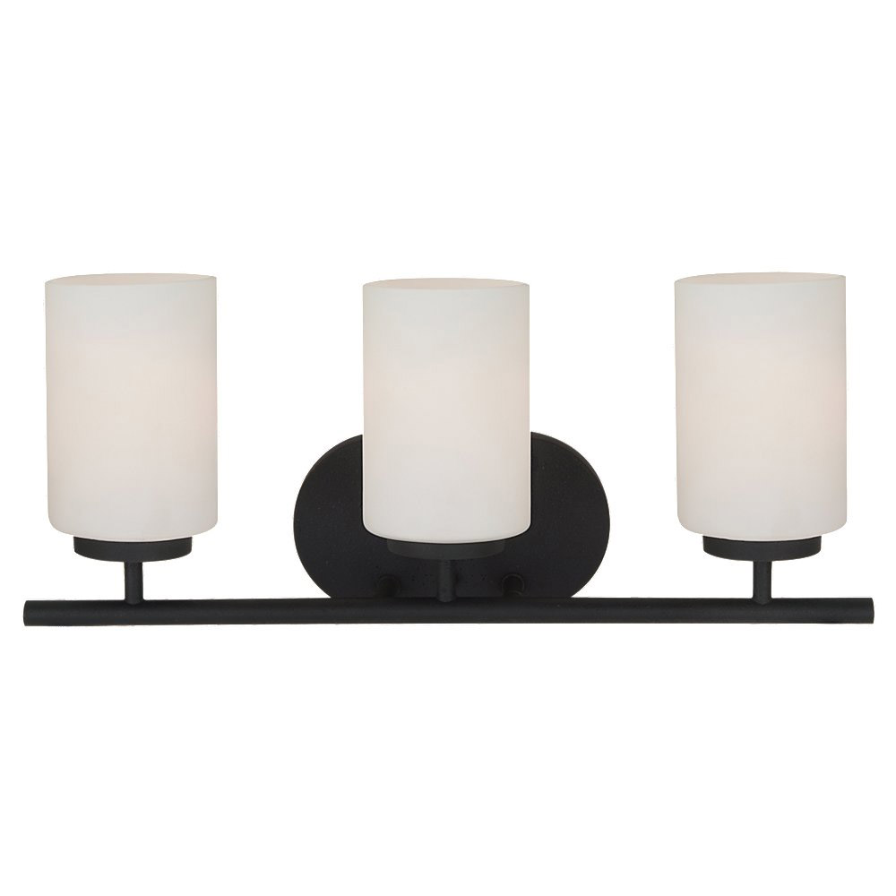 Sea Gull Lighting Oslo 3 Light Bath Vanity in Blacksmith 41162BLE-839