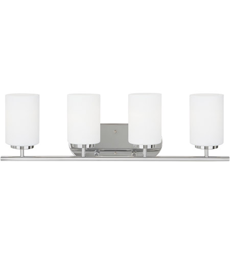 Sea Gull 41163-05 Oslo 4 Light 27 inch Chrome Bath Vanity Wall Light in Standard photo