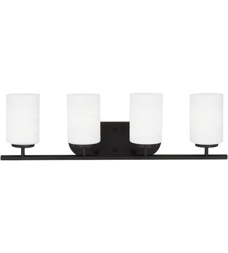 Sea Gull Lighting Oslo 4 Light Bath Vanity in Blacksmith 41163-839