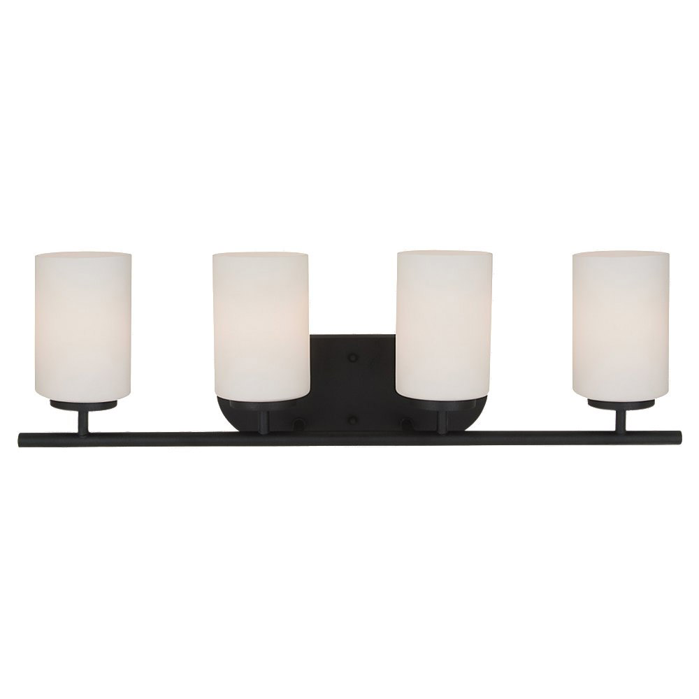Sea Gull Lighting Oslo 4 Light Bath Vanity in Blacksmith 41163BLE-839