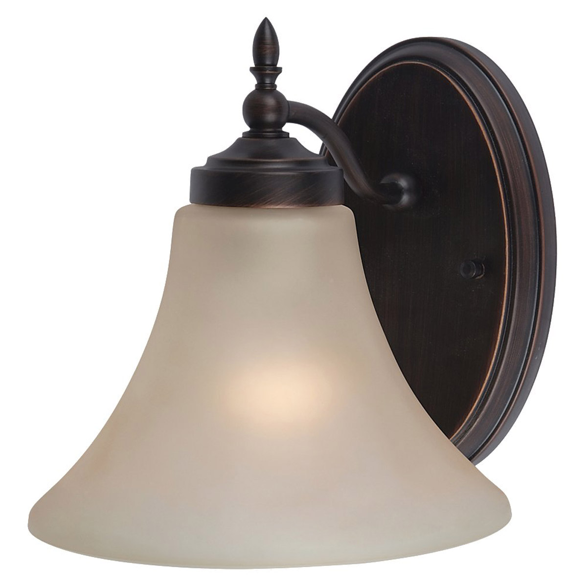 Sea Gull 41180-710 Montreal 1 Light 8 inch Burnt Sienna Bath Vanity Wall Light in Cafe Tint Glass, Standard photo
