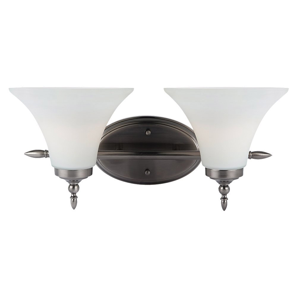 Sea Gull Lighting Montreal 2 Light Bath Vanity in Antique Brushed Nickel 41181-965