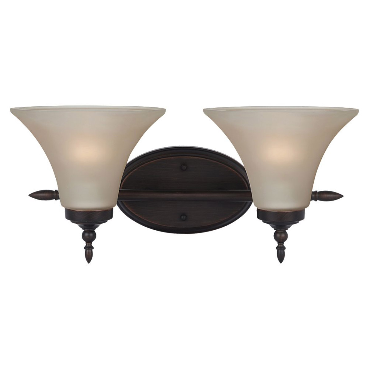 Sea Gull Lighting Montreal 2 Light Bath Vanity in Burnt Sienna 41181BLE-710