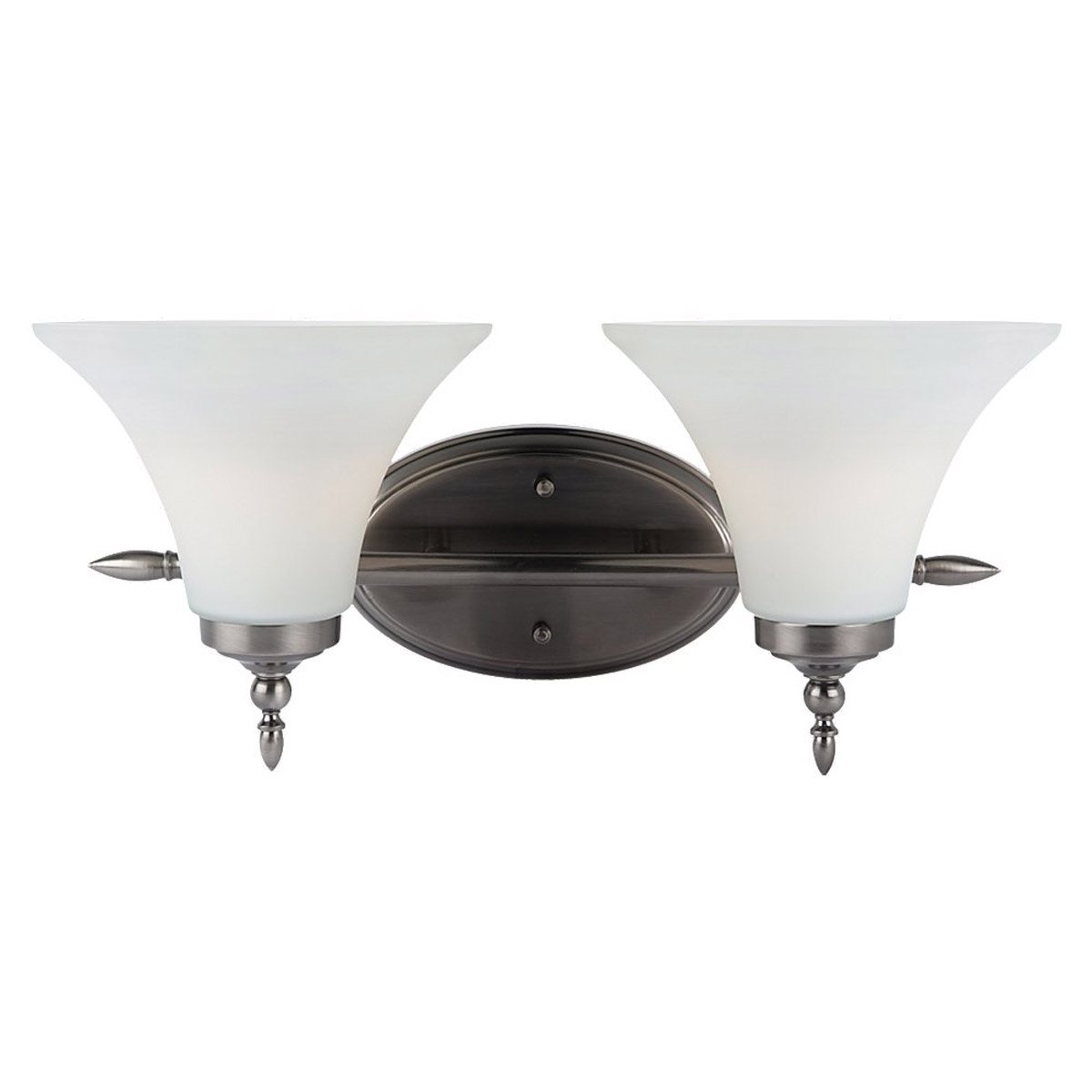 Sea Gull Lighting Montreal 2 Light Bath Vanity in Antique Brushed Nickel 41181BLE-965