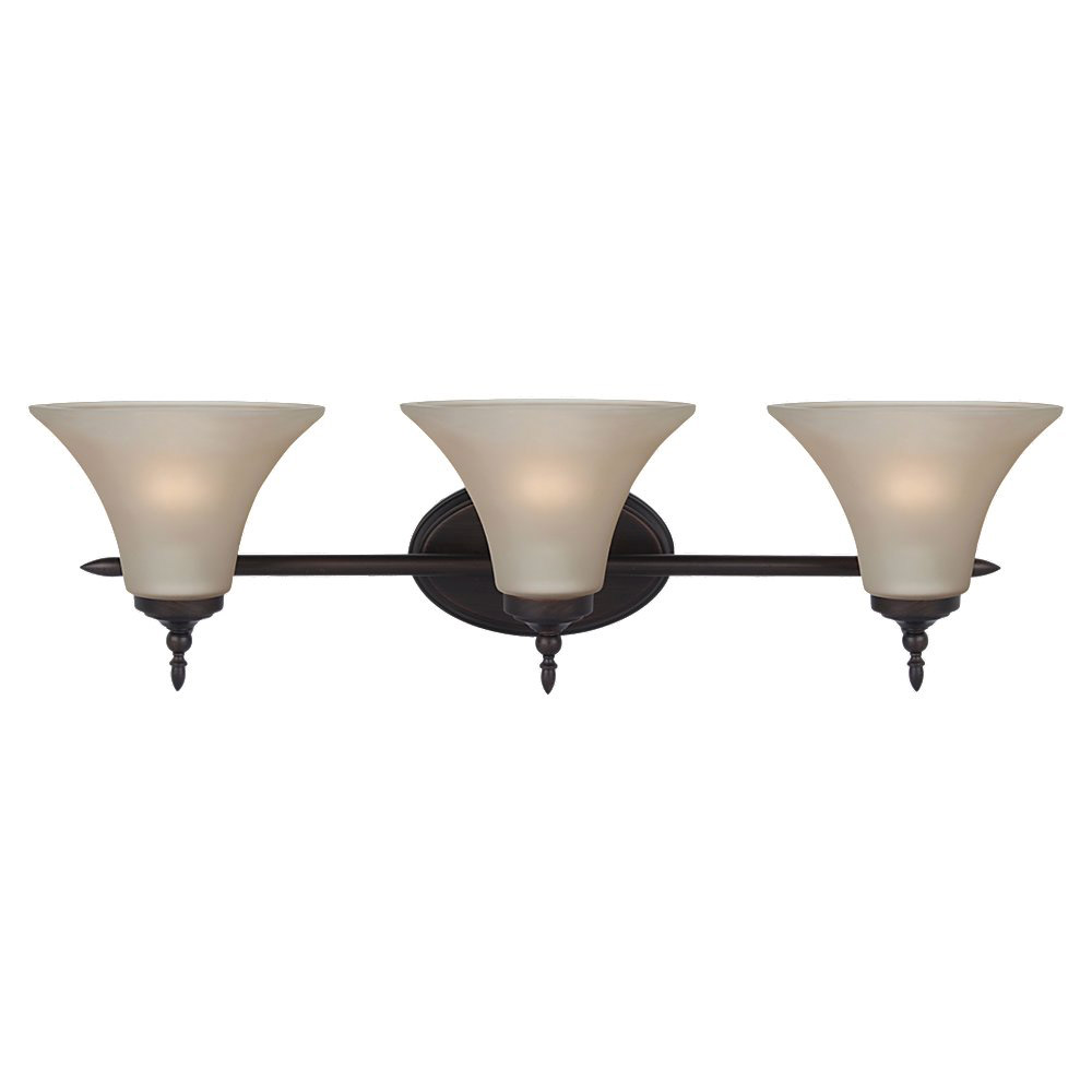 Sea Gull Lighting Montreal 3 Light Bath Vanity in Burnt Sienna 41182-710