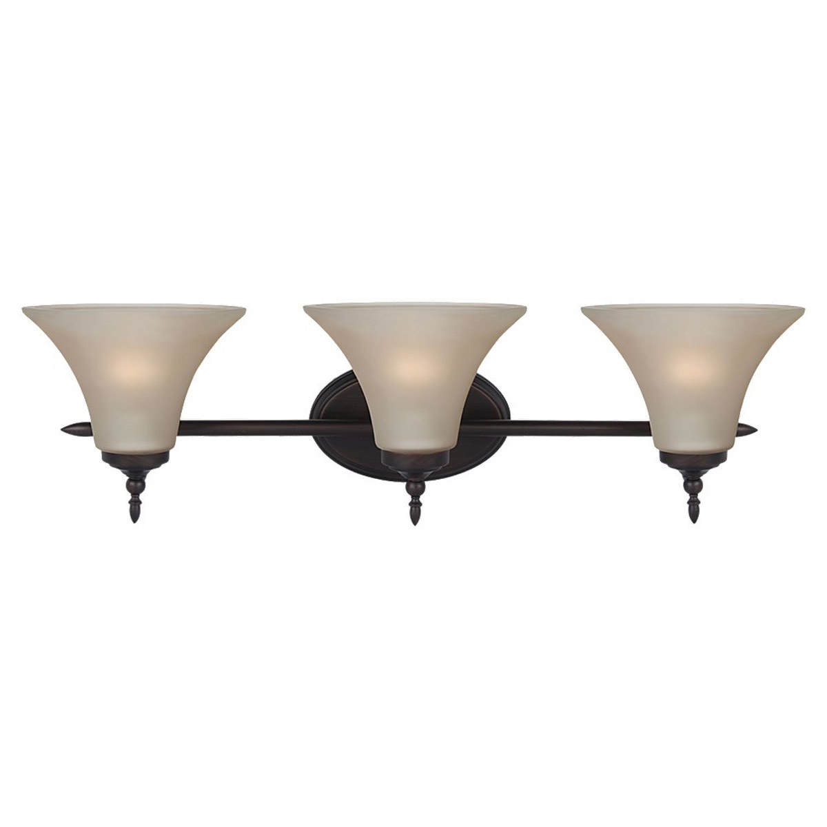 Sea Gull Lighting Montreal 3 Light Bath Vanity in Burnt Sienna 41182BLE-710