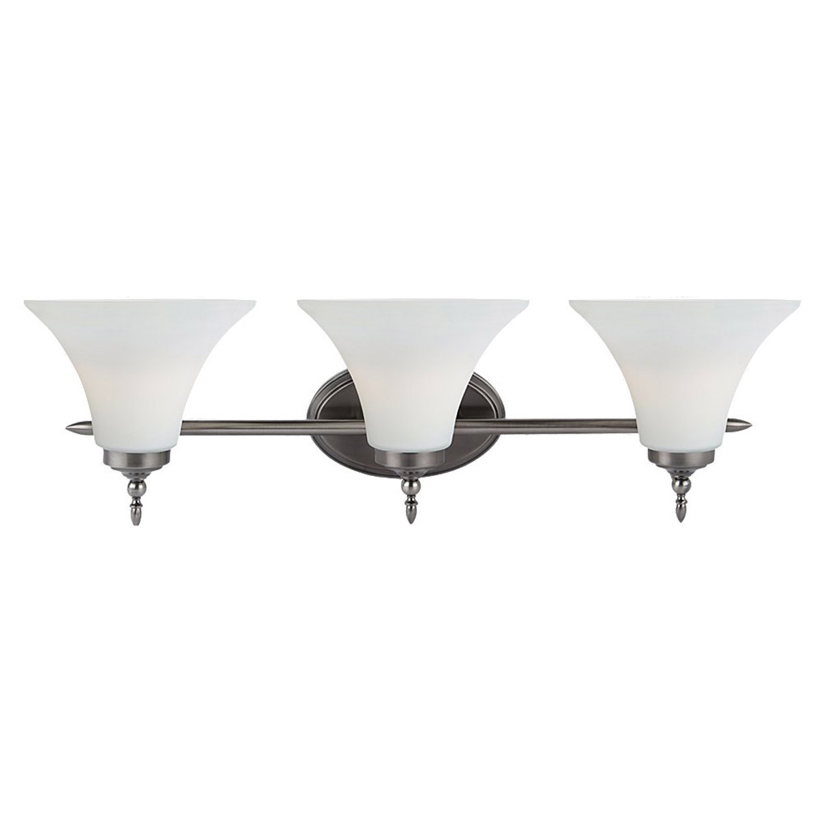 Sea Gull Lighting Montreal 3 Light Bath Vanity in Antique Brushed Nickel 41182BLE-965