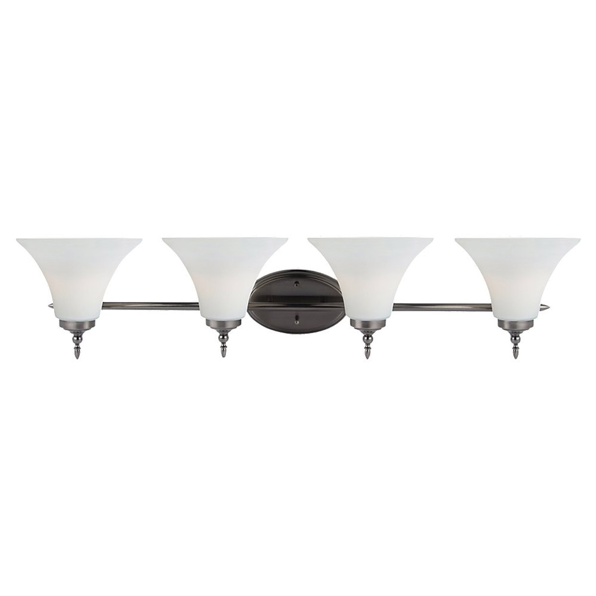 Sea Gull Lighting Montreal 4 Light Bath Vanity in Antique Brushed Nickel 41183BLE-965