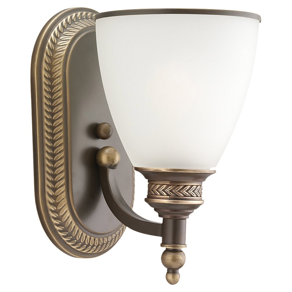 Sea Gull 41350-708 Laurel Leaf 1 Light 6 inch Estate Bronze Bath Vanity Wall Light  photo