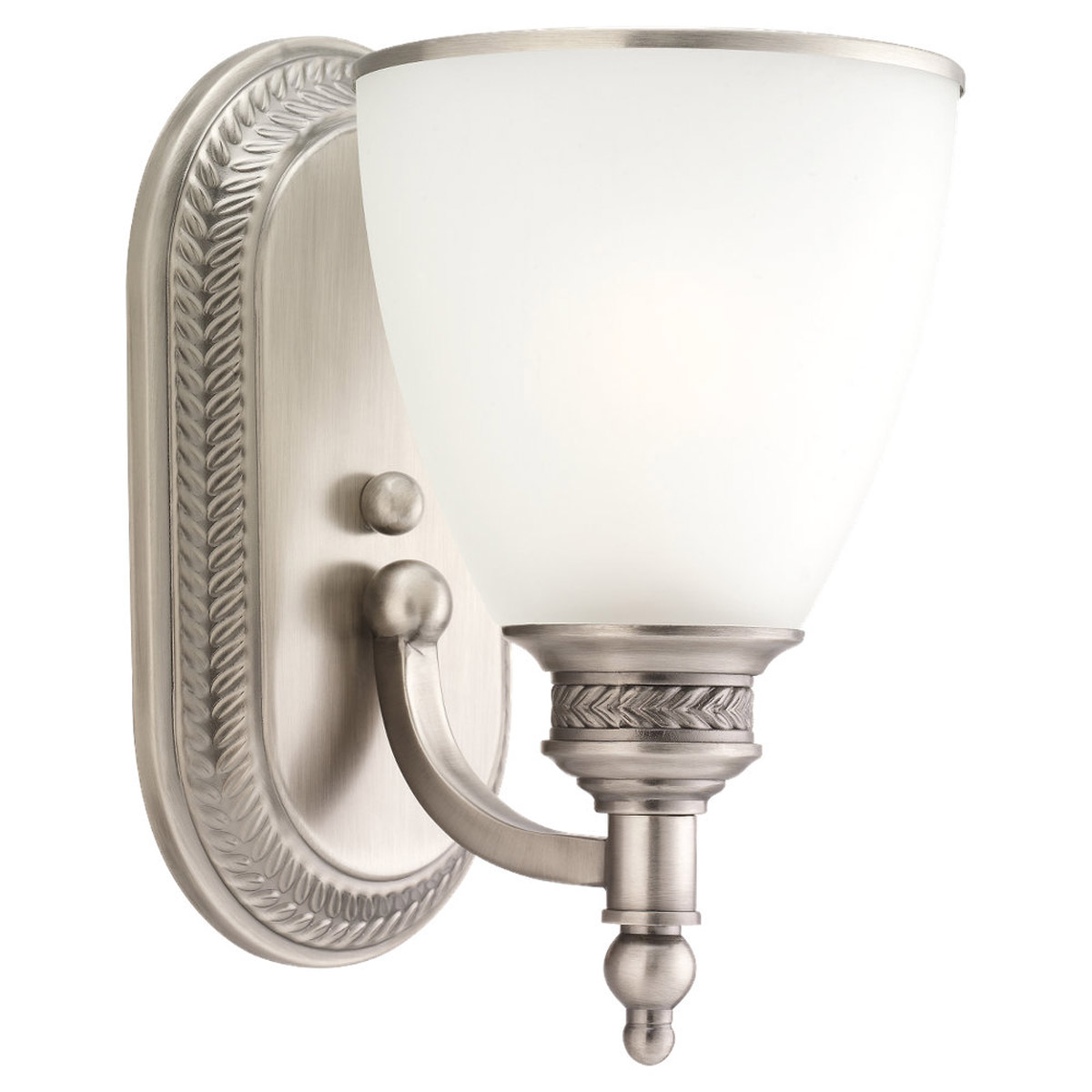 Sea Gull 41350-965 Laurel Leaf 1 Light 6 inch Antique Brushed Nickel Bath Vanity Wall Light photo