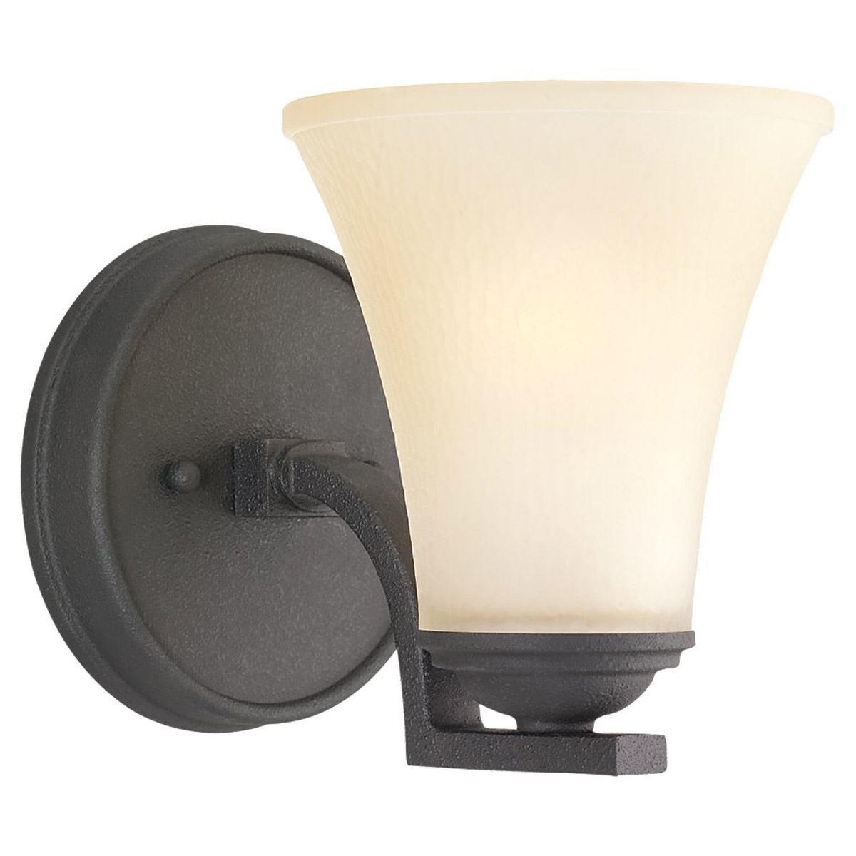 Sea Gull Somerton 1 Light Bath Sconce in Blacksmith 41375BLE-839