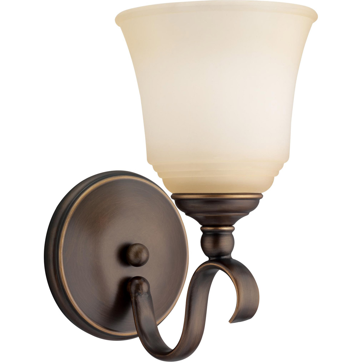 Sea Gull 41380-829 Parkview 1 Light 6 inch Russet Bronze Bath Vanity Wall Light in Ginger Glass photo