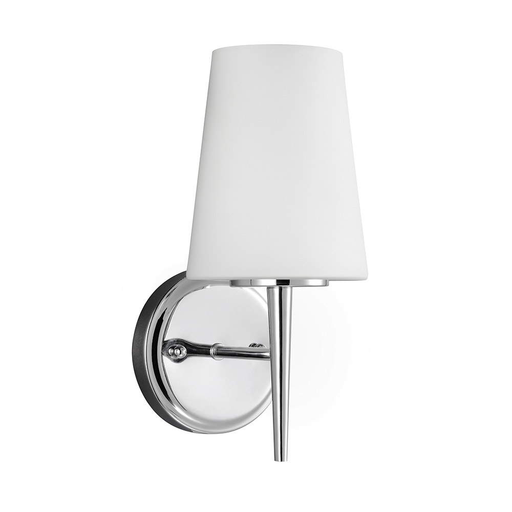 Sea Gull Driscoll 1 Light Bath Sconce in Chrome 4140401BLE-05