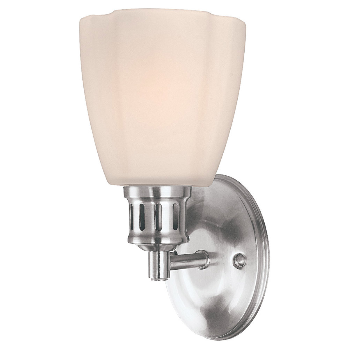 Sea Gull Lighting Century 1 Light Bath Vanity in Brushed Nickel 41474-962