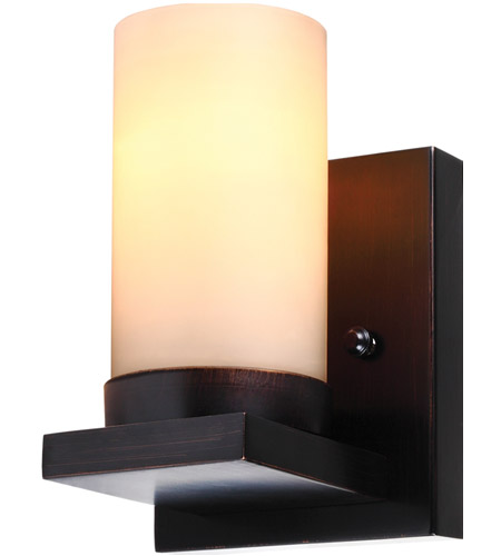 Sea Gull 41585BLE-710 Ellington 1 Light 5 inch Burnt Sienna Wall Sconce Wall Light in Cafe Tint Glass, Fluorescent photo
