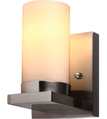 Sea Gull 41585BLE-962 Ellington 1 Light 5 inch Brushed Nickel Wall Sconce Wall Light in Satin Etched Glass, Fluorescent photo