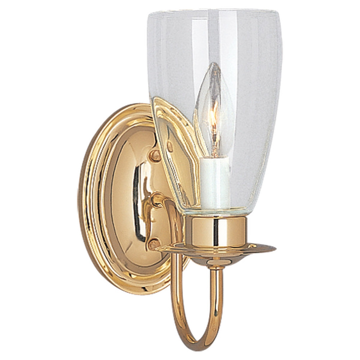 Sea Gull Lighting Traditional 1 Light Bath Vanity in Polished Brass 4167-02 photo