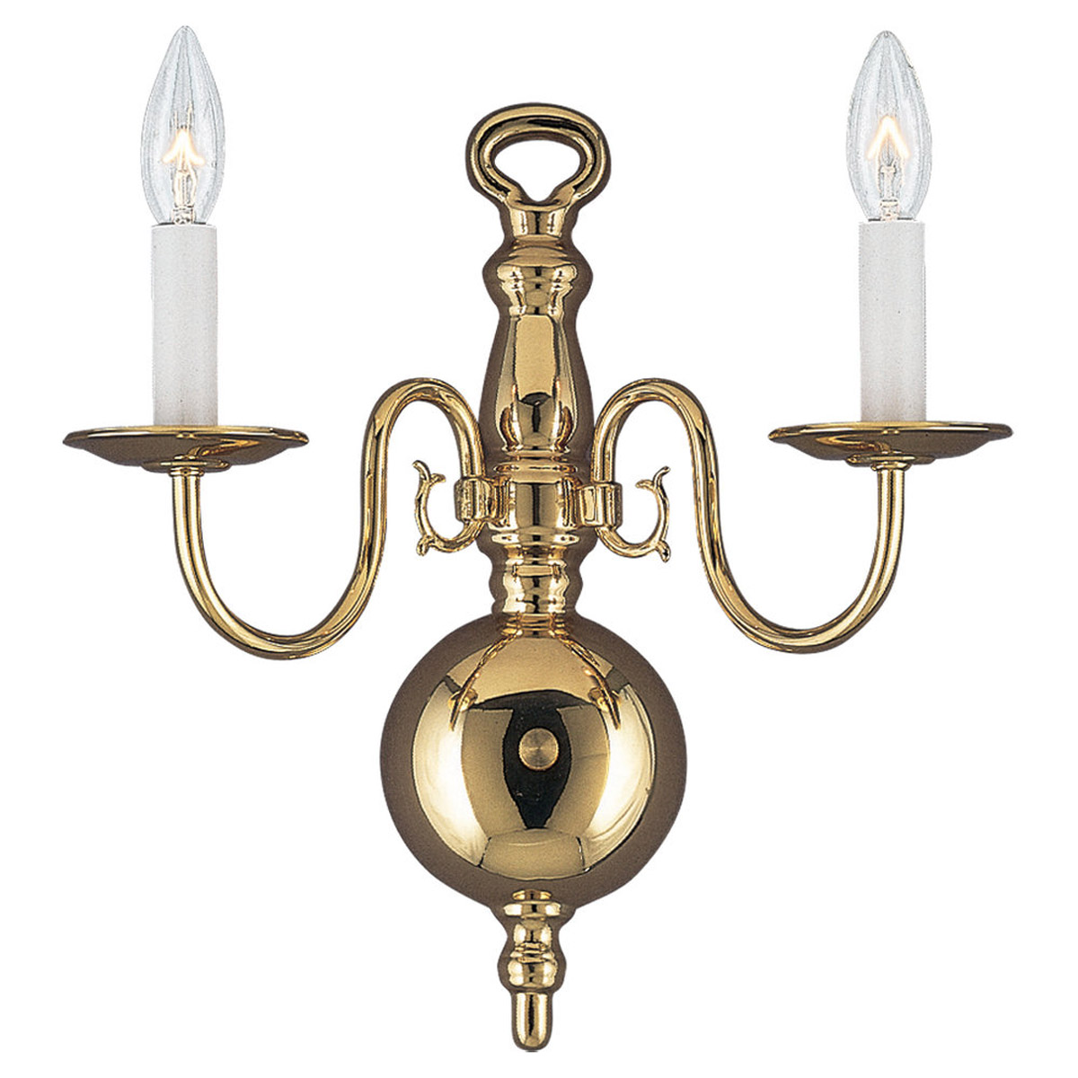 Sea Gull Lighting Traditional 2 Light Bath Vanity in Polished Brass 4179-02