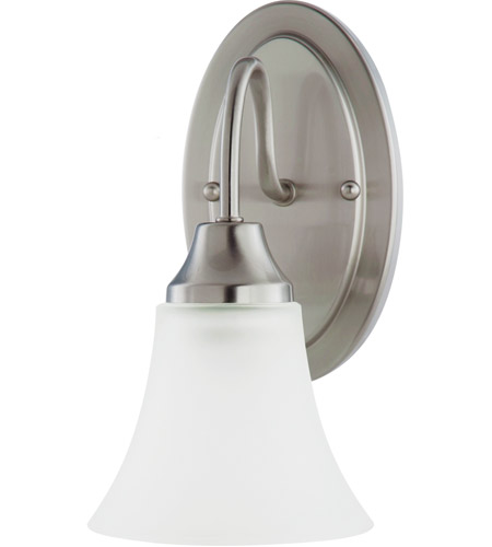 Sea Gull Holman 1 Light Wall Sconce in Brushed Nickel 41806-962