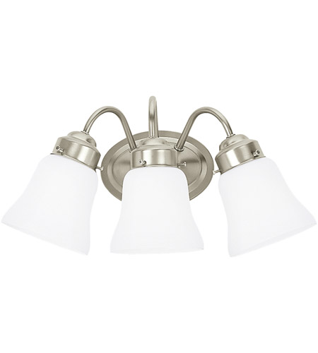 Sea Gull Lighting Westmont 3 Light Bath Vanity in Brushed Nickel 44020-962