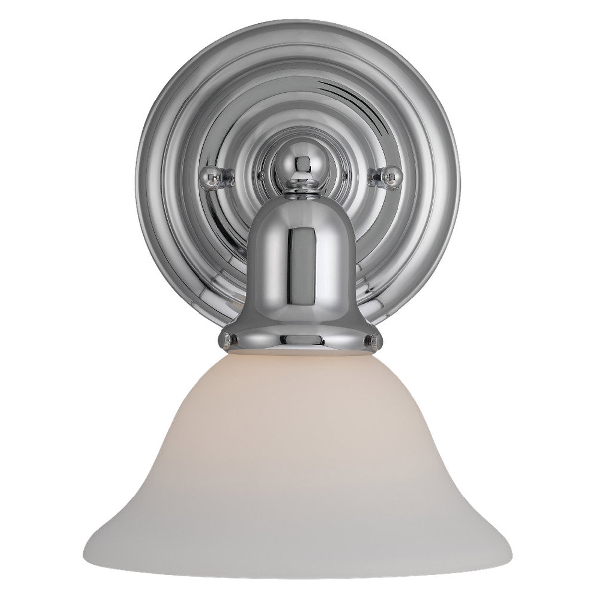 Sea Gull 44060-05 Sussex 1 Light 8 inch Chrome Bath Vanity Wall Light in Satin White Glass photo