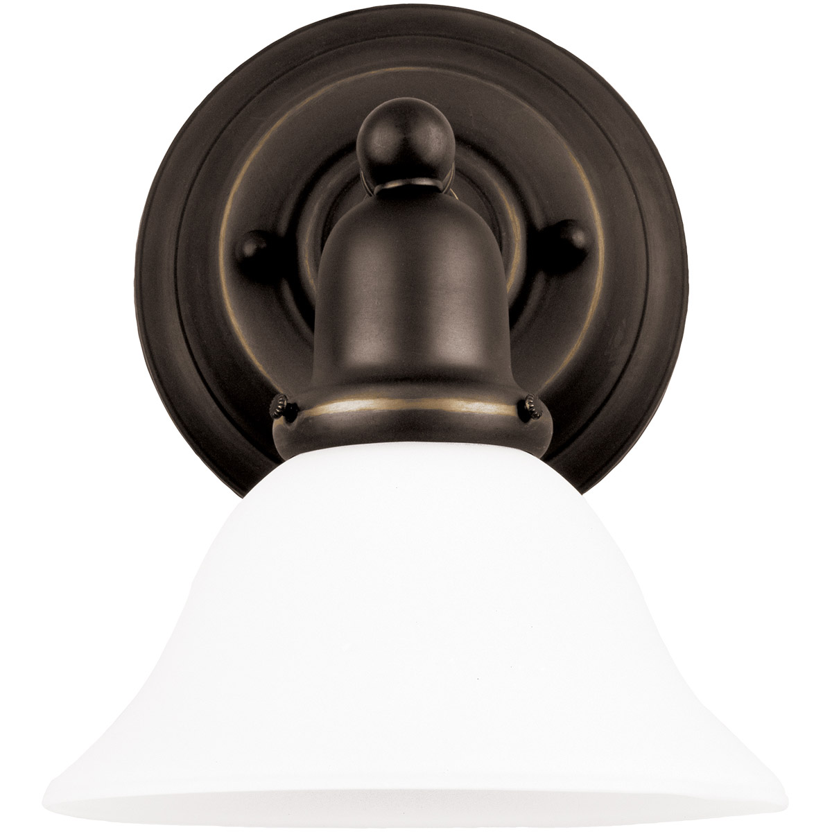 Sea Gull 44060-782 Sussex 1 Light 8 inch Heirloom Bronze Bath Vanity Wall Light in Satin Etched Glass photo