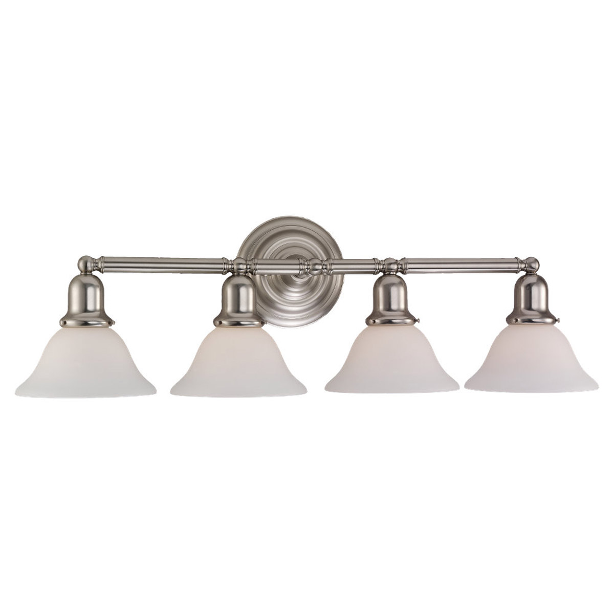 Sea Gull Lighting Sussex 4 Light Bath Vanity in Brushed Nickel 44063-962
