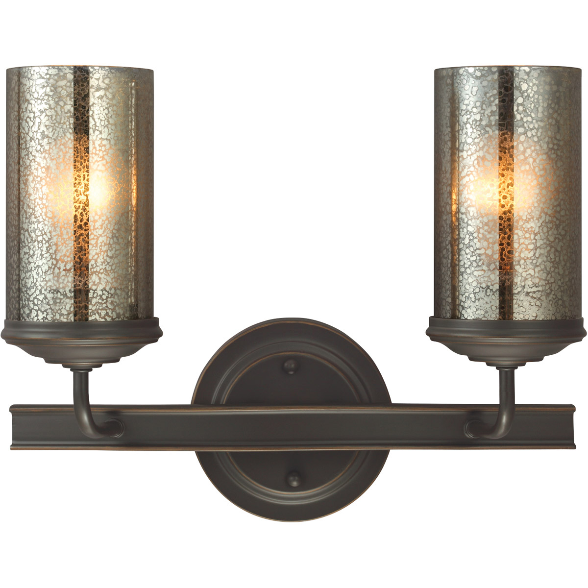 Sea Gull Sfera 2 Light Bath Vanity in Autumn Bronze 4410402BLE-715