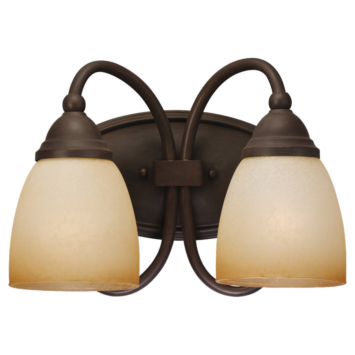 Sea Gull Lighting Montclaire 2 Light Bath Vanity in Olde Iron 44105-72