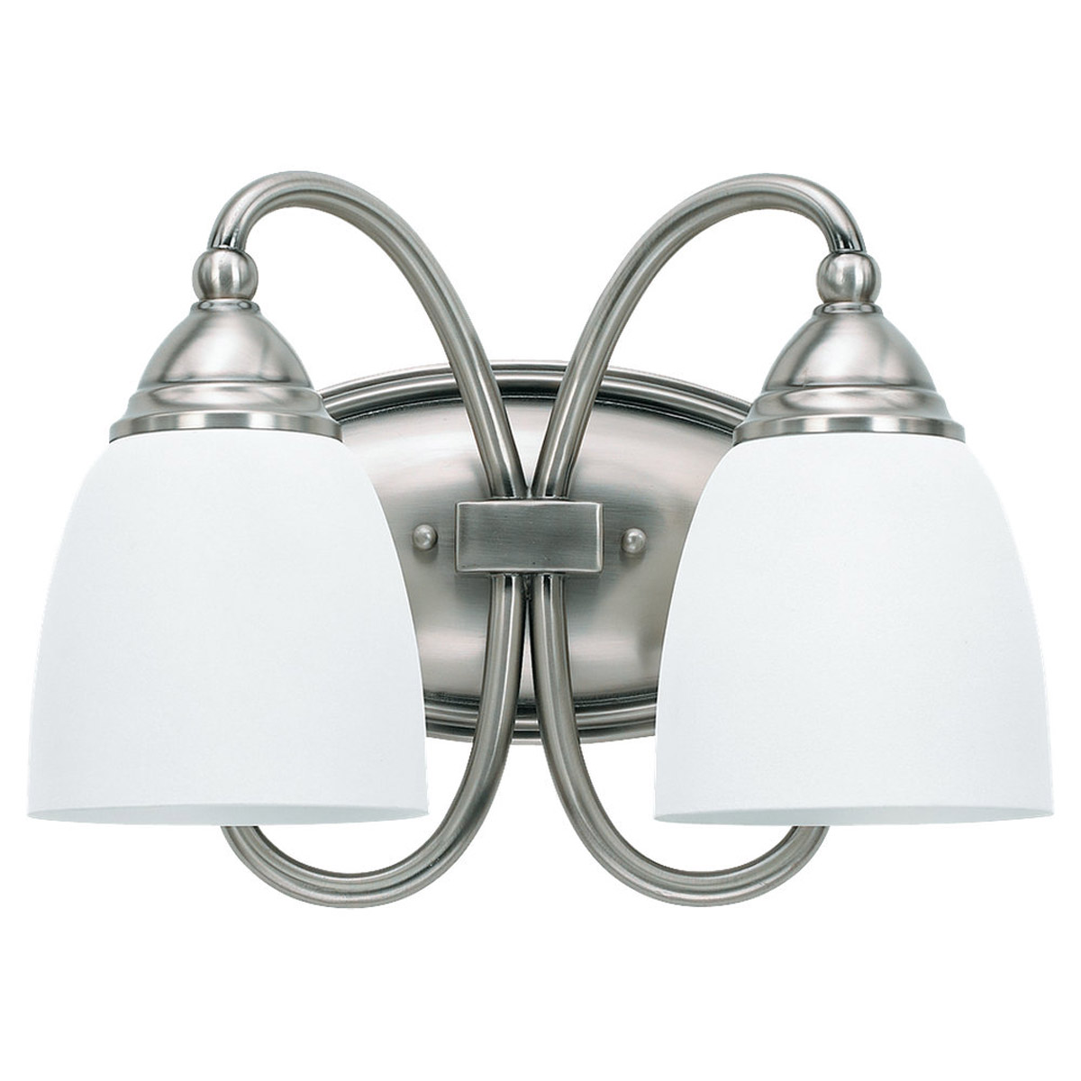 Sea Gull Lighting Montclaire 2 Light Bath Vanity in Antique Brushed Nickel 44105BLE-965